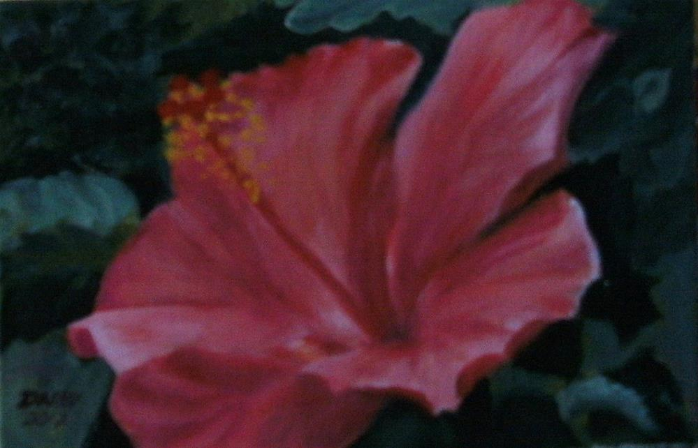 """Hybiscus"" original fine art by Lynn Darby"