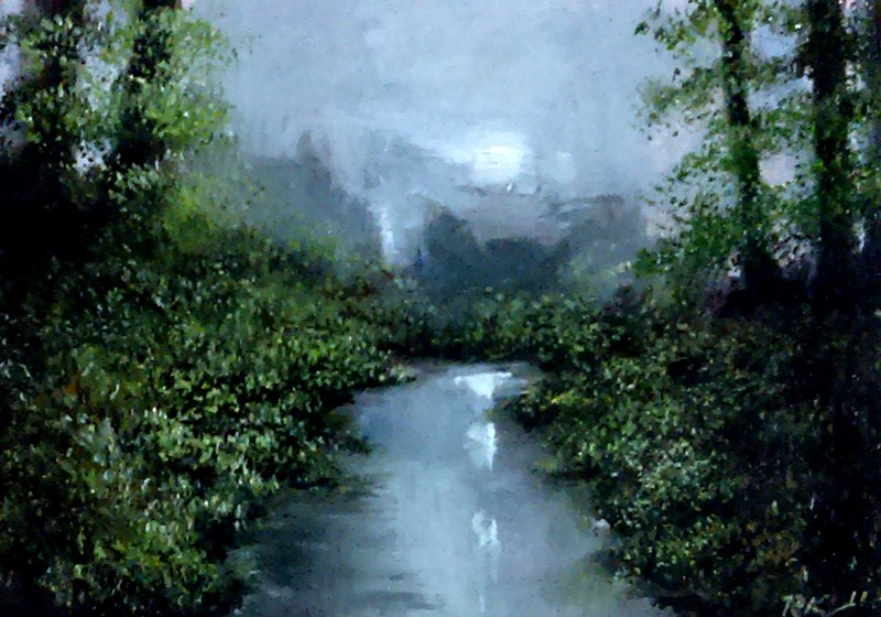 """River in the Woodlands"" original fine art by Bob Kimball"