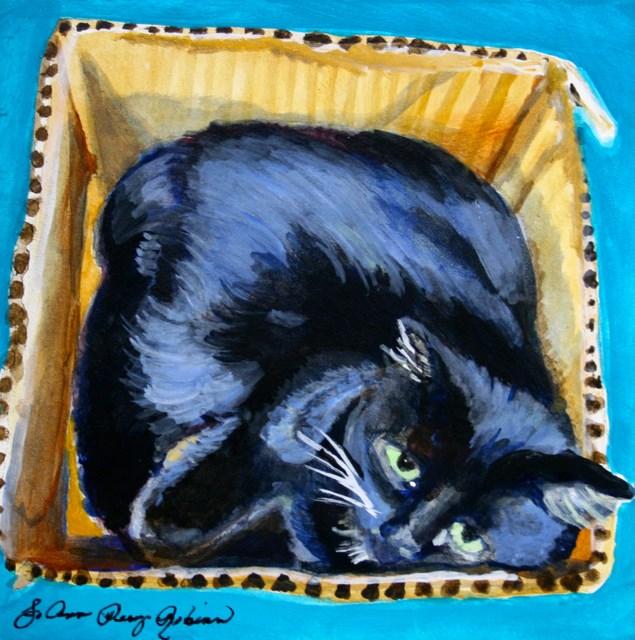 """""""Choco in the Box"""" original fine art by JoAnne Perez Robinson"""