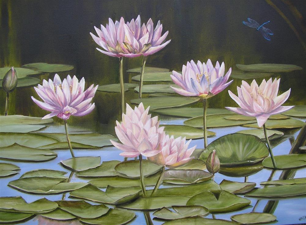 """Waterliies"" original fine art by Terri Nicholson"
