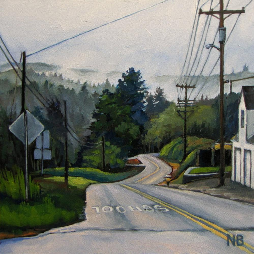 """Never Mind the Rain"" original fine art by Nora Bergman"