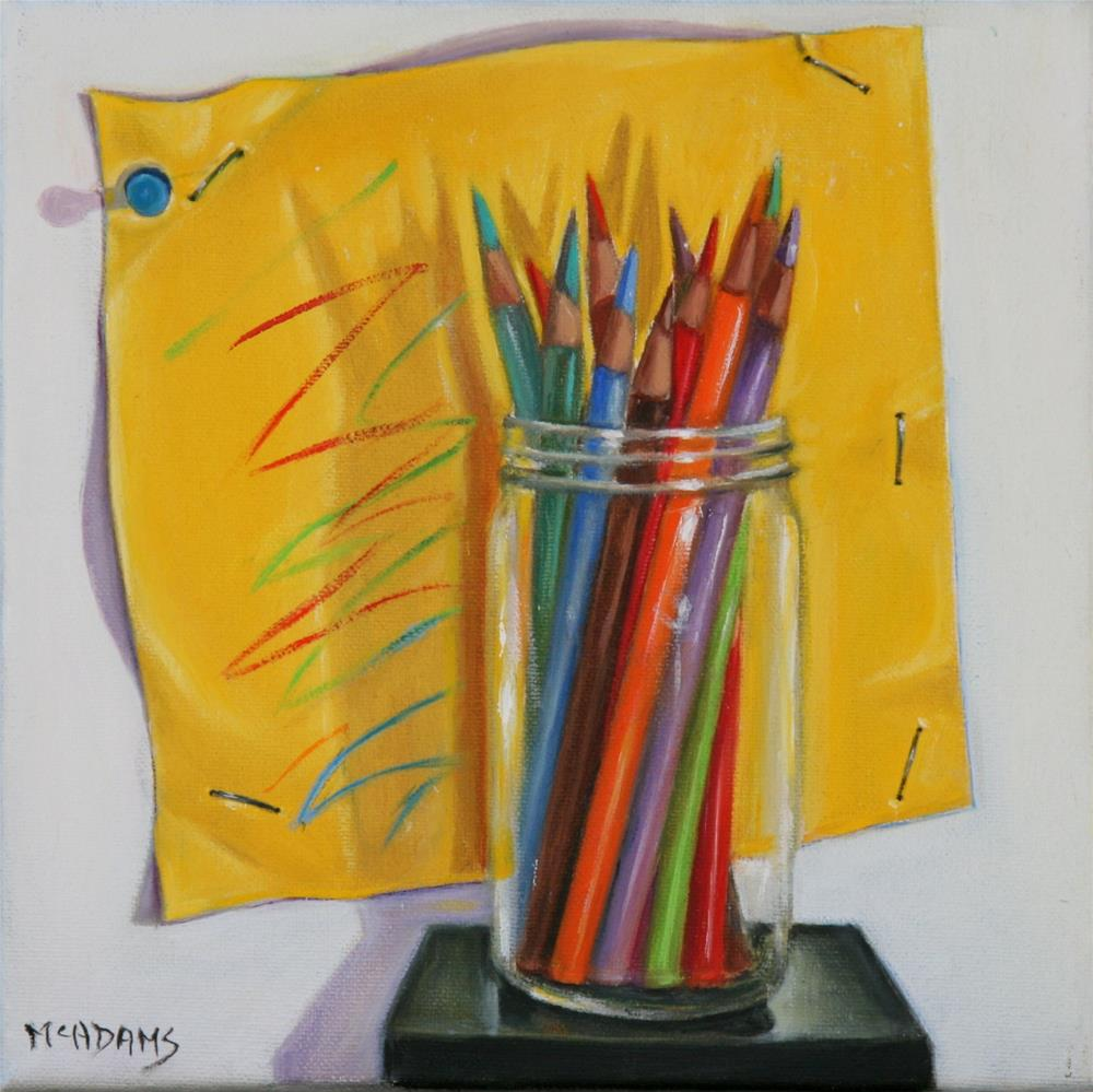 """Colored Pencils"" original fine art by Phyllis McAdams"