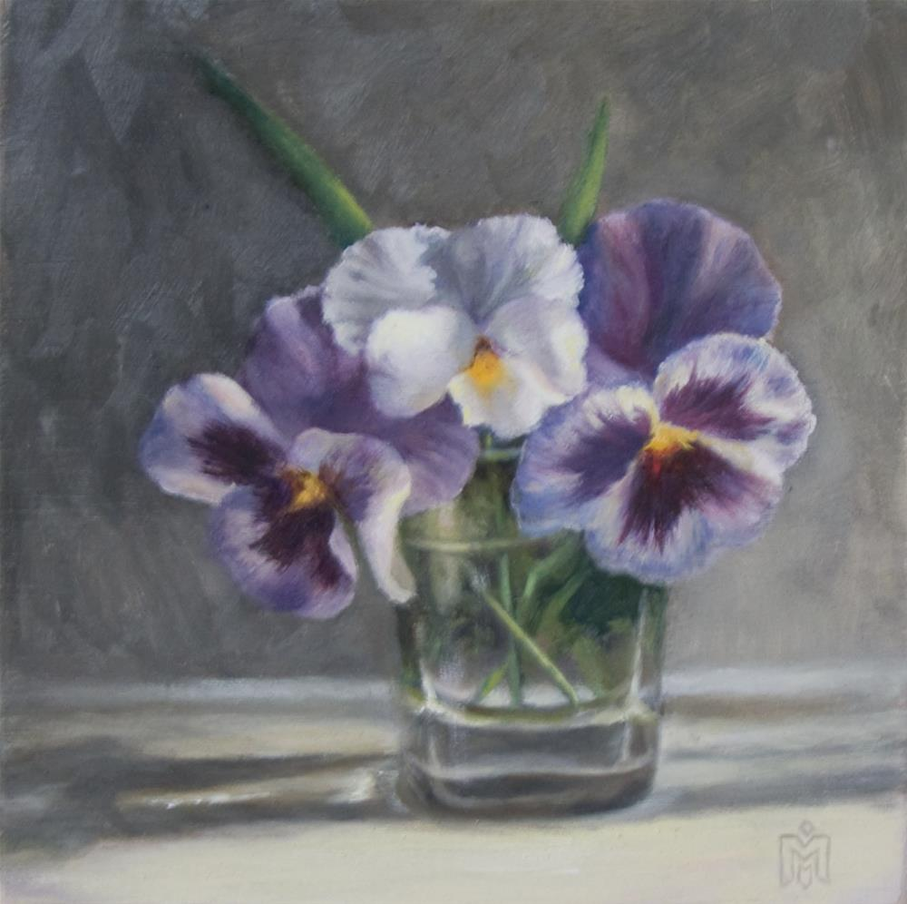 """Pansies"" original fine art by Melissa  Imossi"