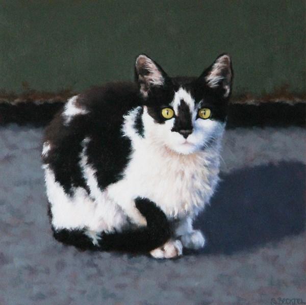 """""""Dumpster Kitten II"""" original fine art by Sarah Becktel"""