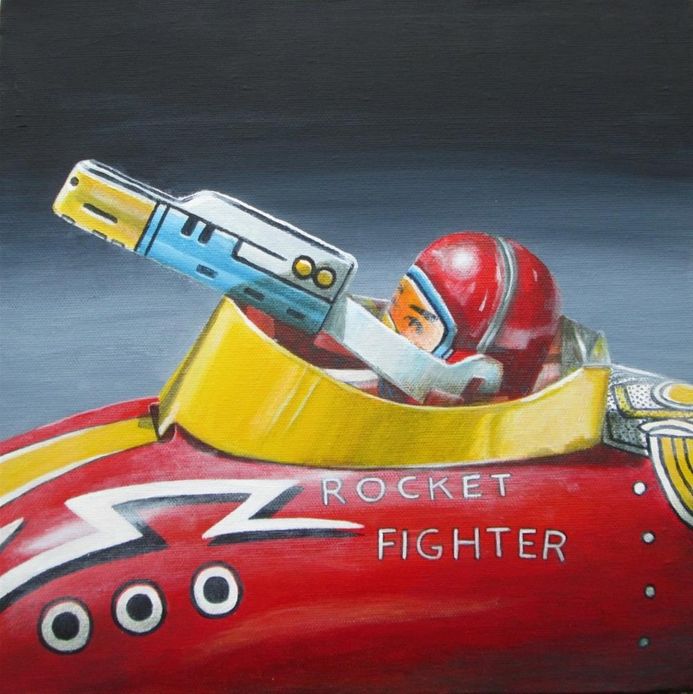 """Rocker Fighter"" original fine art by Debbie Shirley"
