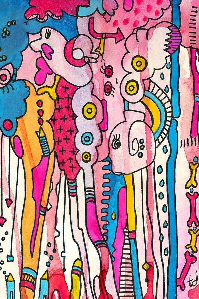 """Pink Play"" original fine art by Tonya Doughty"
