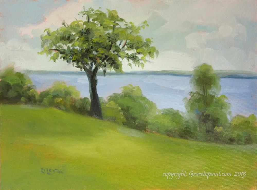 """Potomac (as seen from Mt. Vernon property)"" original fine art by Maresa Lilley"