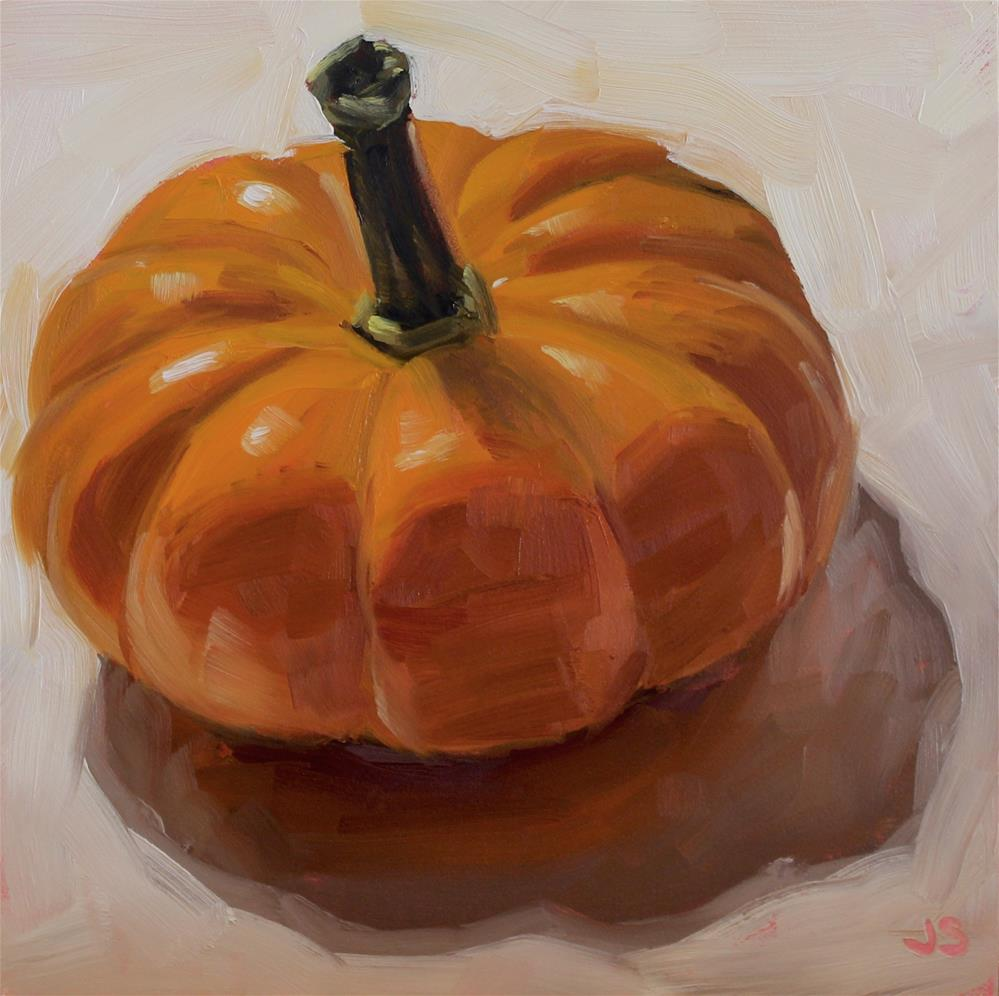 """Pumpkin Drama"" original fine art by Jamie Stevens"