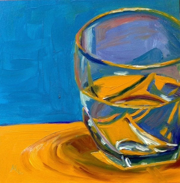 """Half Empty of Half Full?"" original fine art by Marjie Laizure"