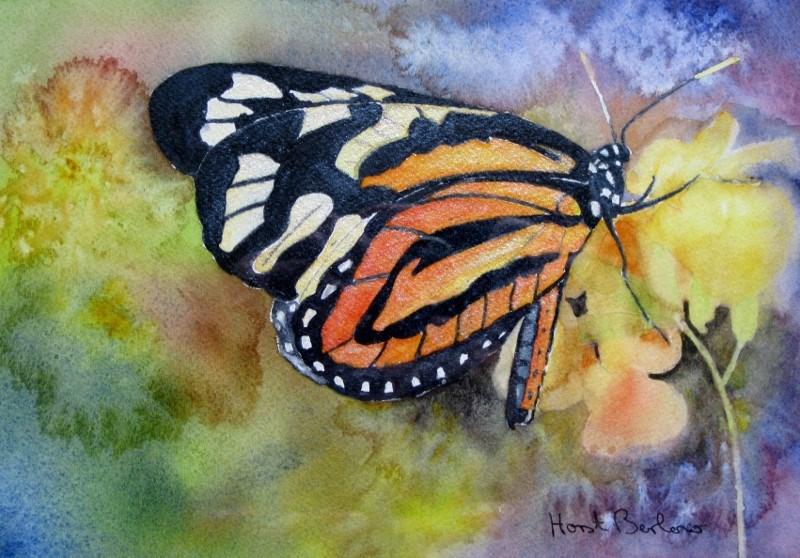 """""""Butterfly 1"""" original fine art by Horst Berlow"""