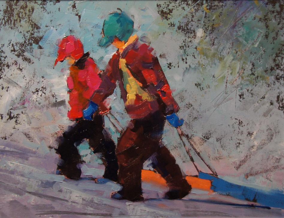 """First Snow Day"" original fine art by Brian Buckrell"