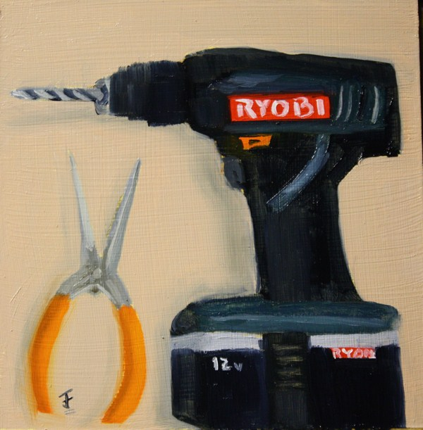 """Tool Challenge"" original fine art by Jane Frederick"