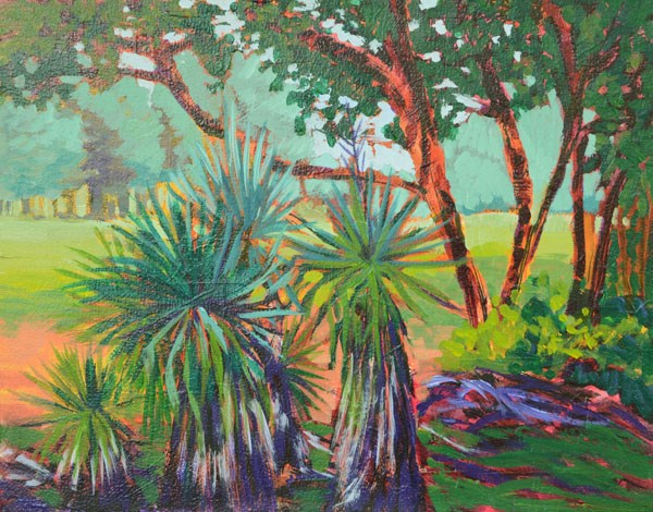 """Sandhill Yuccas"" original fine art by Lucinda Howe"