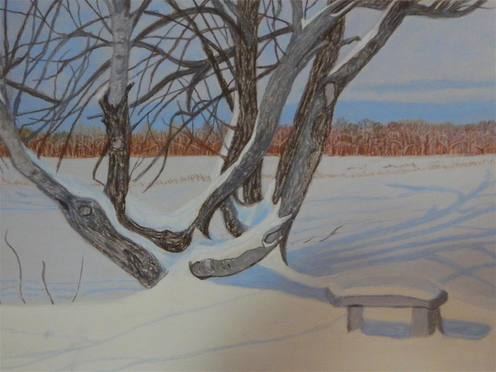"""""""A Shady Place to Rest"""" original fine art by Elaine Shortall"""