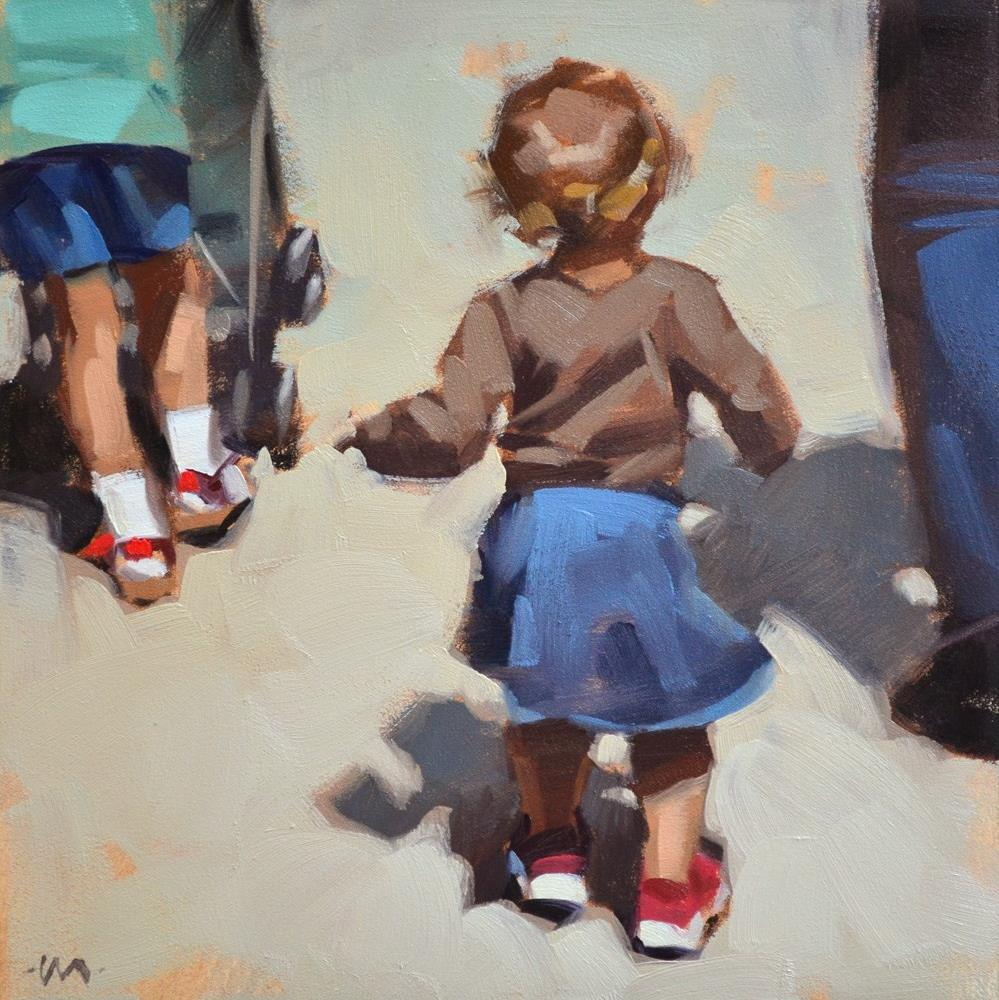 """Wiggly Walk"" original fine art by Carol Marine"
