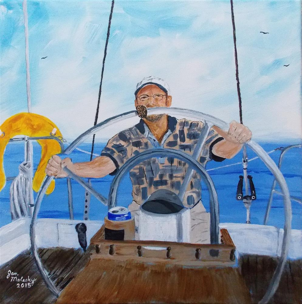 """First Mate"" original fine art by Jan Molesky"