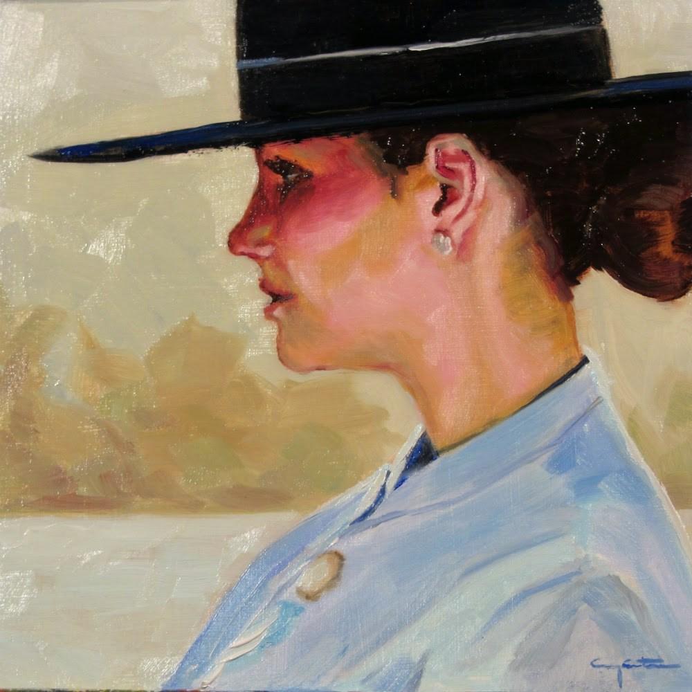 """""""El sombrero cordobés"""" original fine art by Eduardo Carpintero"""