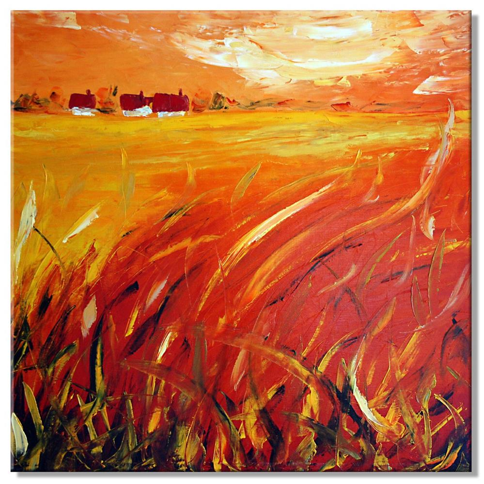 """In the grass"" original fine art by Elena Lunetskaya"
