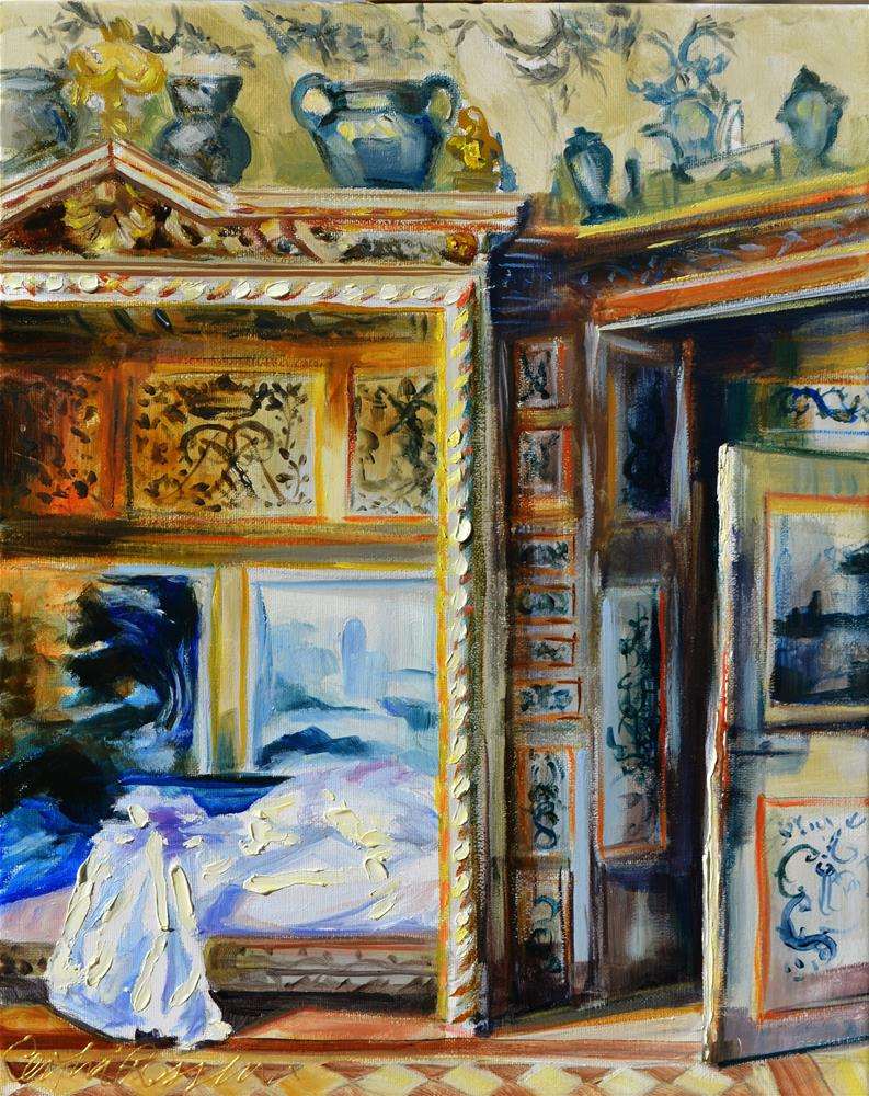 """NORMANDY BEDROOM"" original fine art by Cecilia Rosslee"