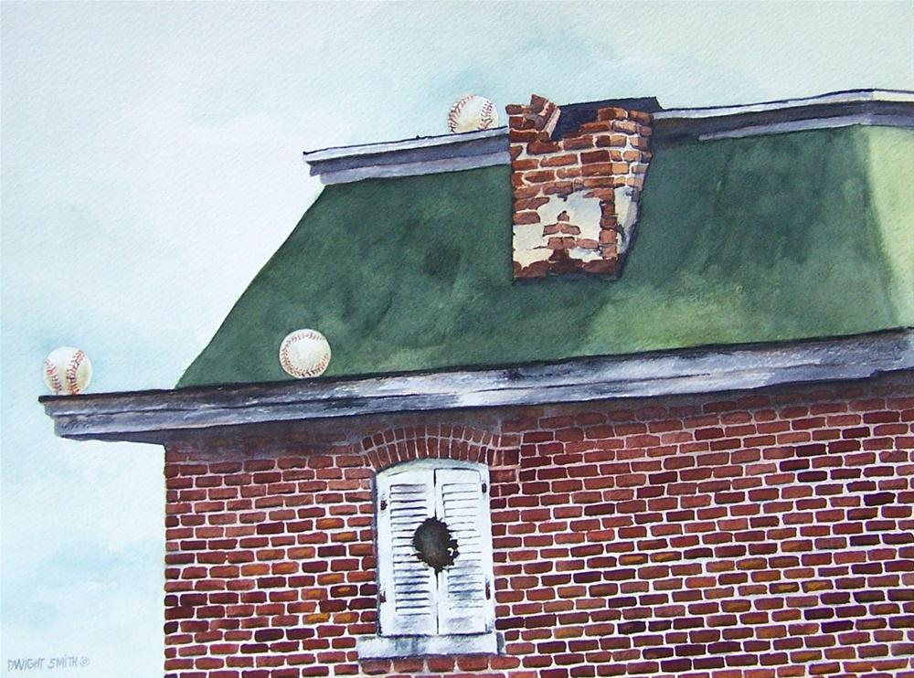 """ THREE BALLS AND ONE STRIKE "" original fine art by Dwight Smith"