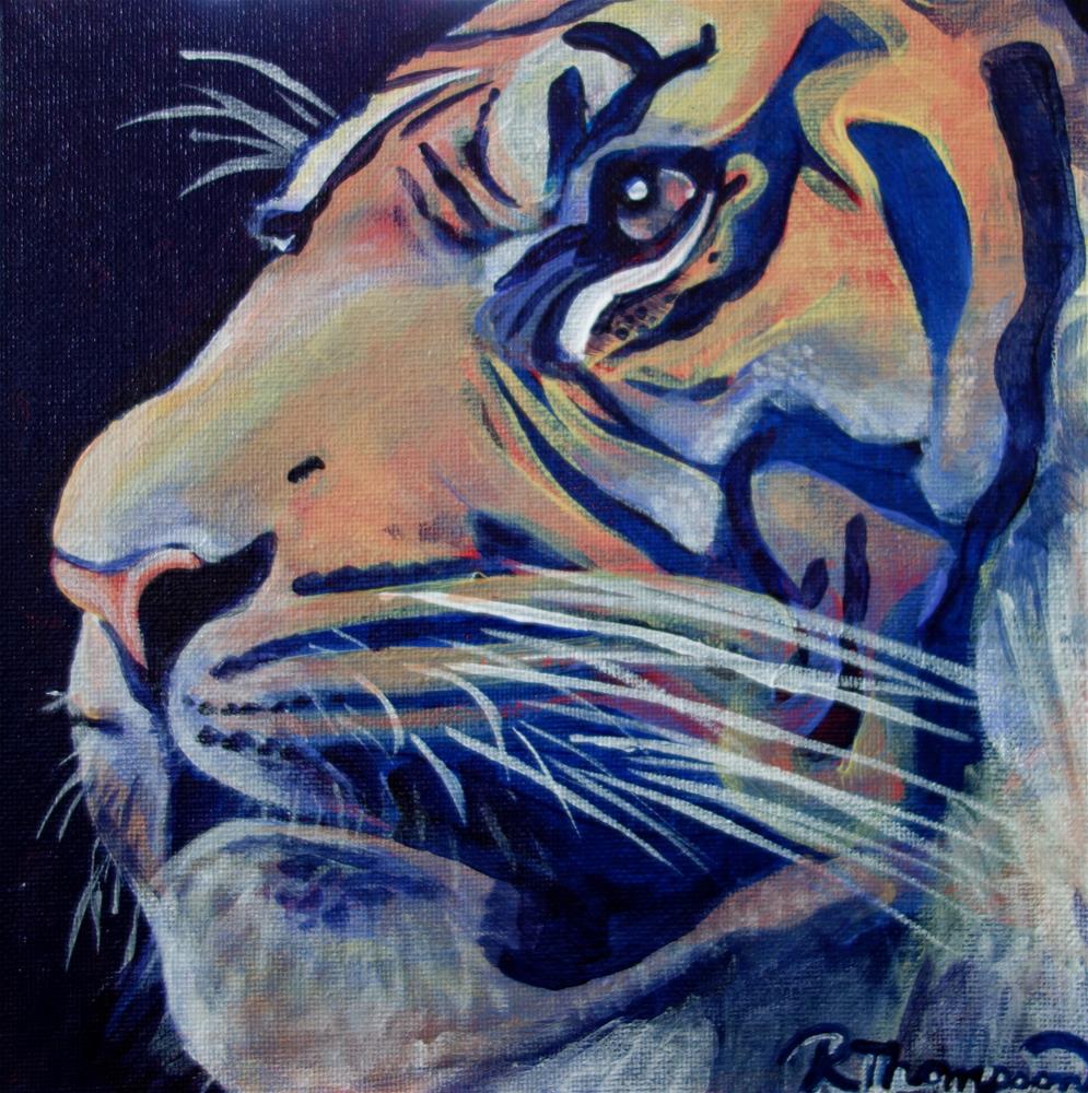 """Tiger"" original fine art by Rachel Thompson"