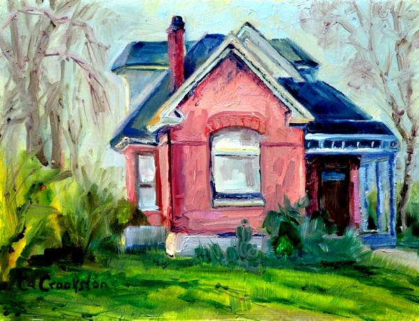 """Aunty's House"" original fine art by Catherine Crookston"