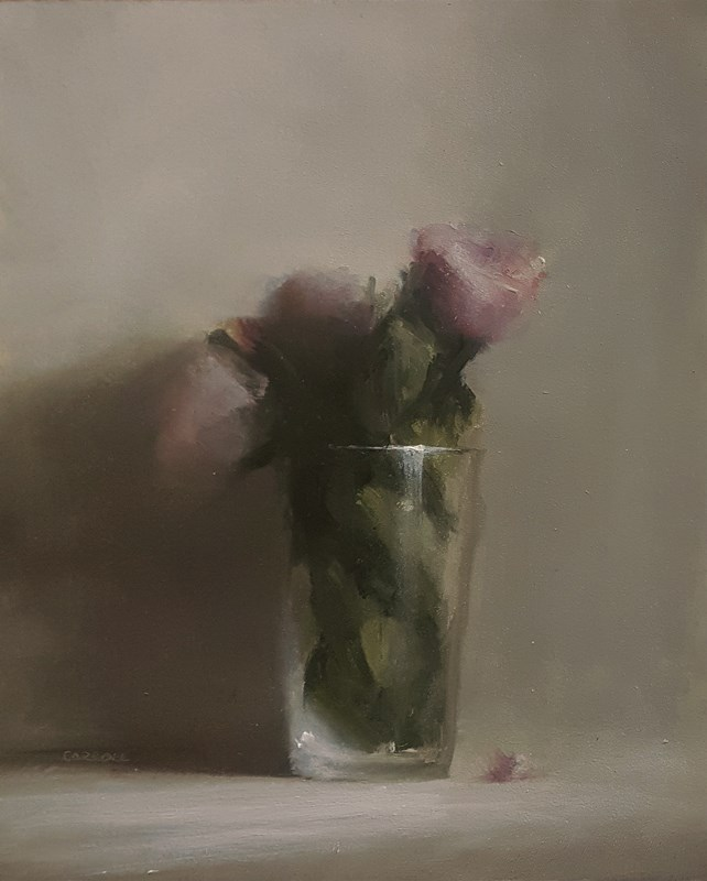 """Pint of Flowers"" original fine art by Neil Carroll"