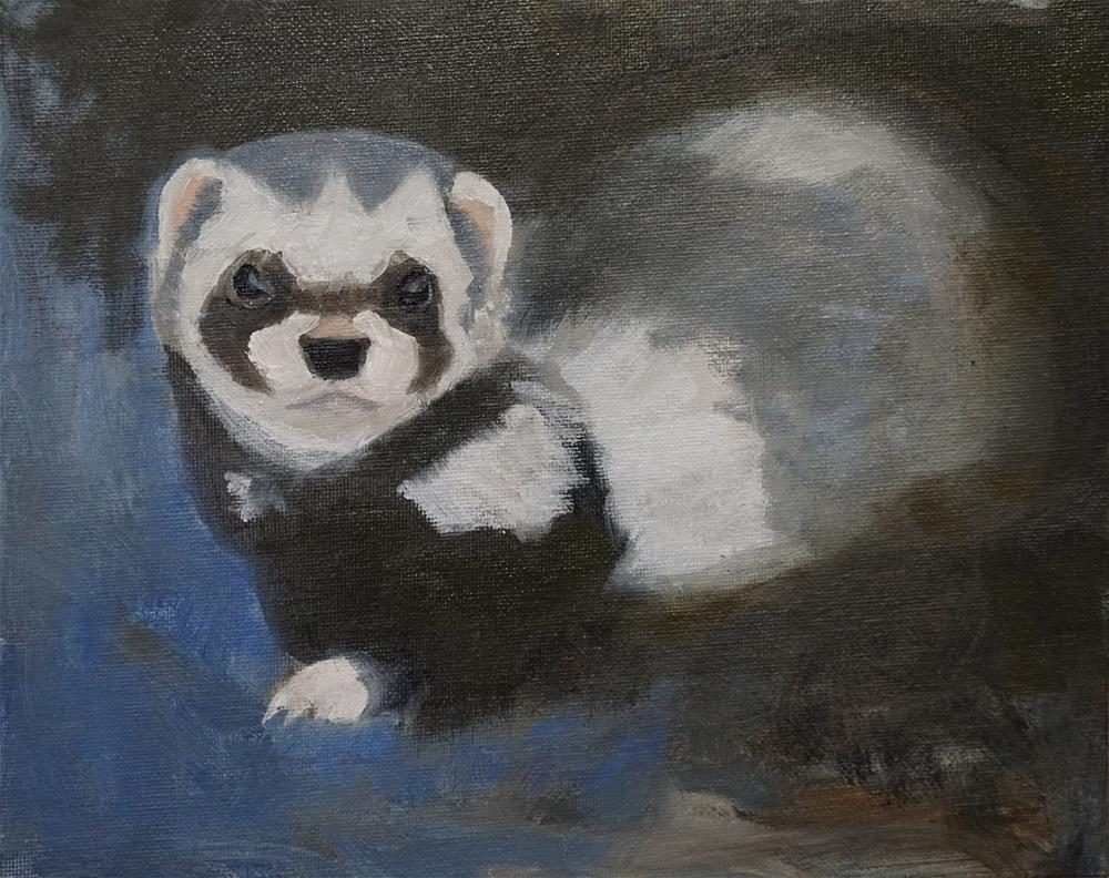 """Ferret Lips"" original fine art by Catherine Van Berg"