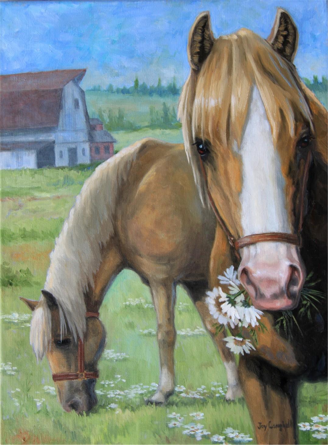 """Serving Flowers"" original fine art by Joy Campbell"