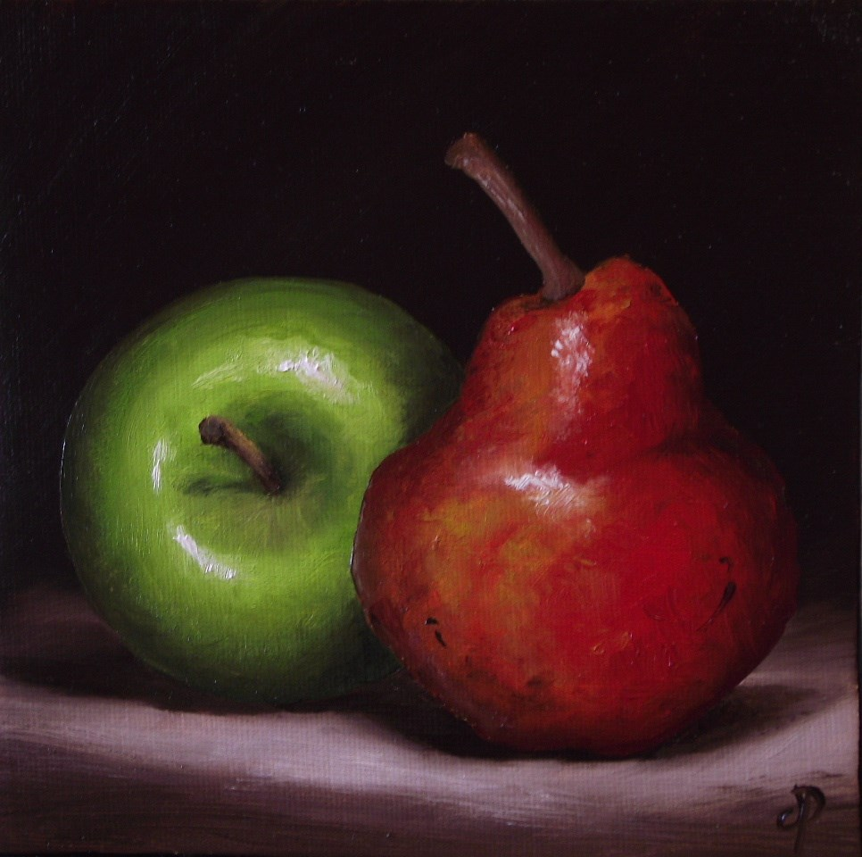 """Granny Smith and Red Williams"" original fine art by Jane Palmer"