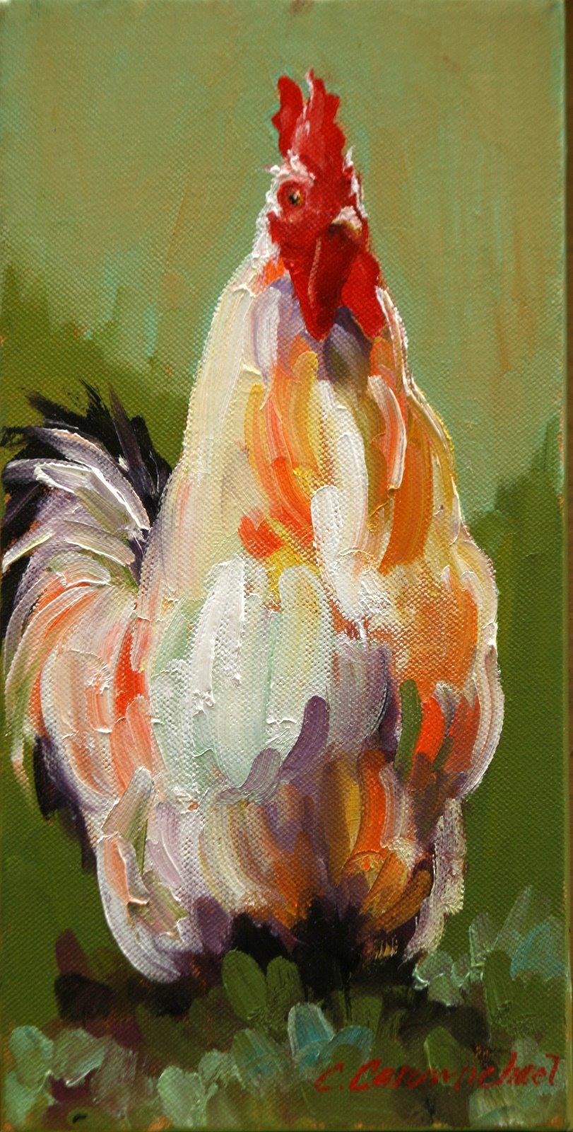 """""""Sitting Pretty"""" original fine art by Carol Carmichael"""