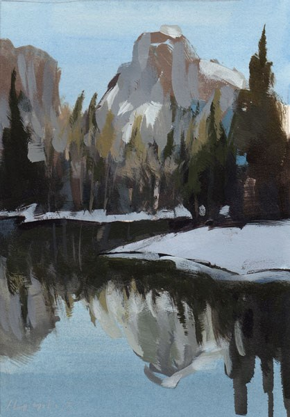 """Rocky Mountain Reflections - Quick Study"" original fine art by David Lloyd"