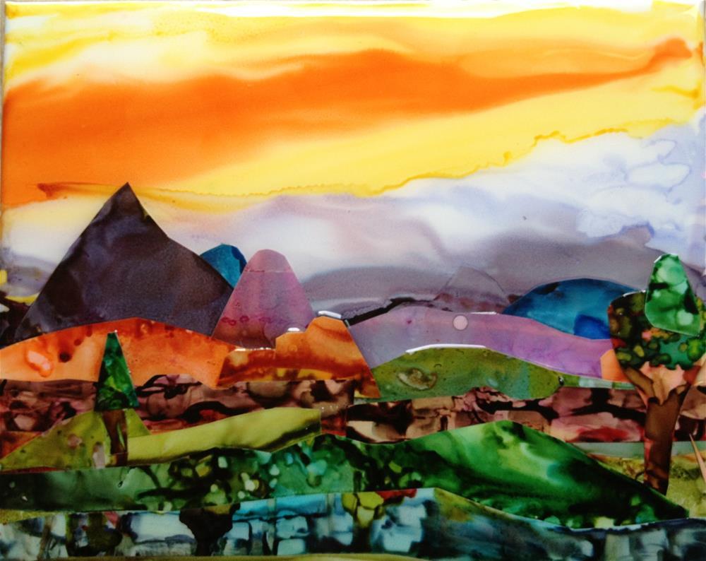 """""""Purple Mountains Majesty"""" original fine art by Kristen Dukat"""