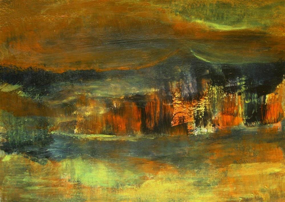 """Fire Destruction"" original fine art by Alina Frent"