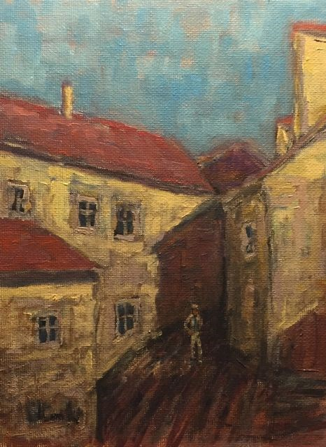 """Cesky Krumlov"" original fine art by William Cook"