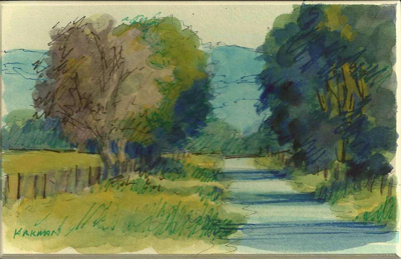 Road Sketch 3 original fine art by Rita Kirkman