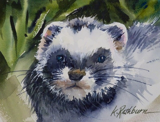 """Little Guy"" original fine art by Kathy Los-Rathburn"