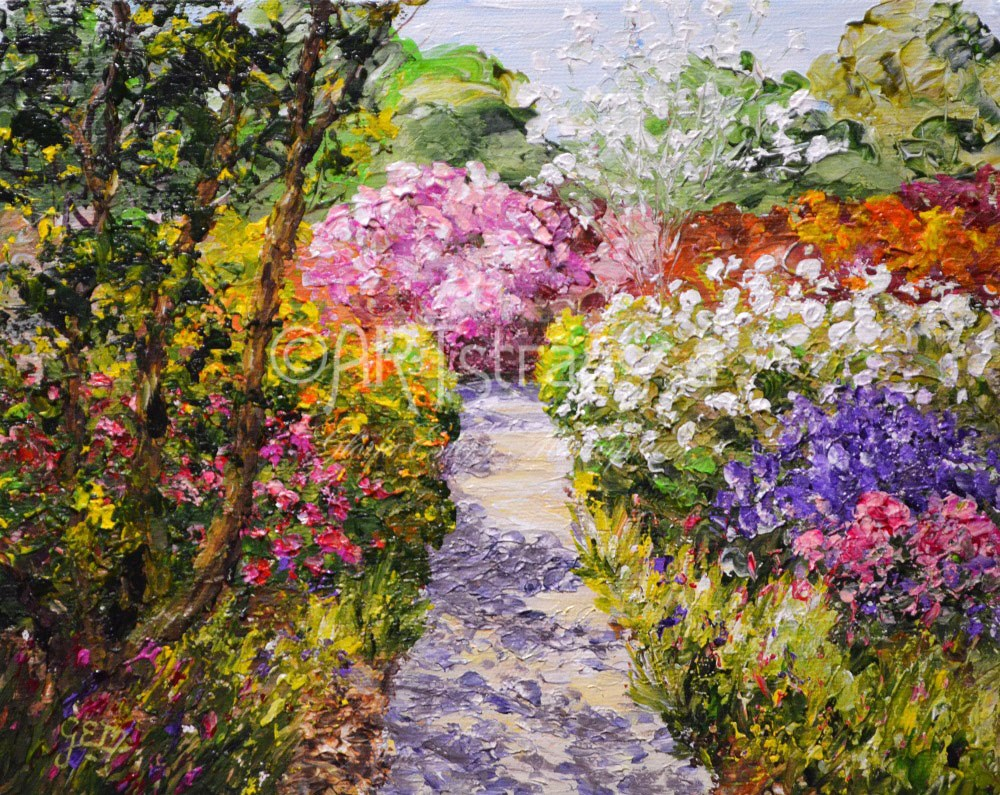 """The Blooming Path"" original fine art by Gloria Ester"