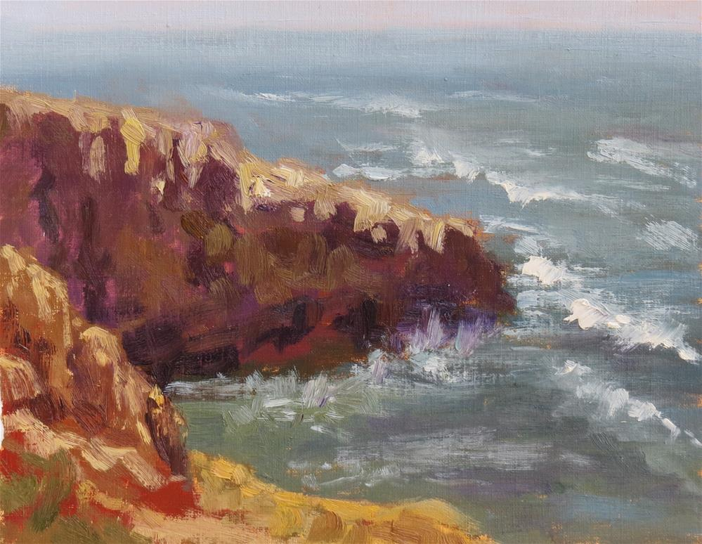 """Sunset Cliffs"" original fine art by Pam Holnback"