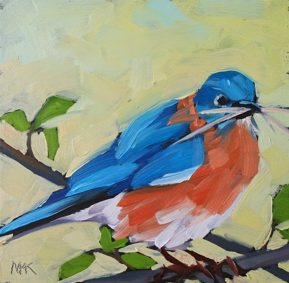"""Mr Blue"" original fine art by Mary Anne Cary"