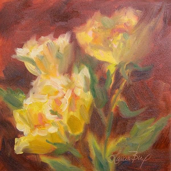 """""""Yellow Bunch"""" original fine art by Laura  Buxo"""