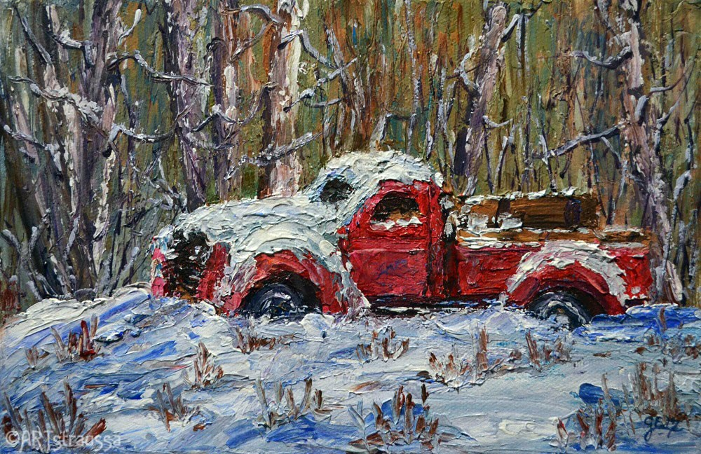 """Undercover Truck"" original fine art by Gloria Ester"