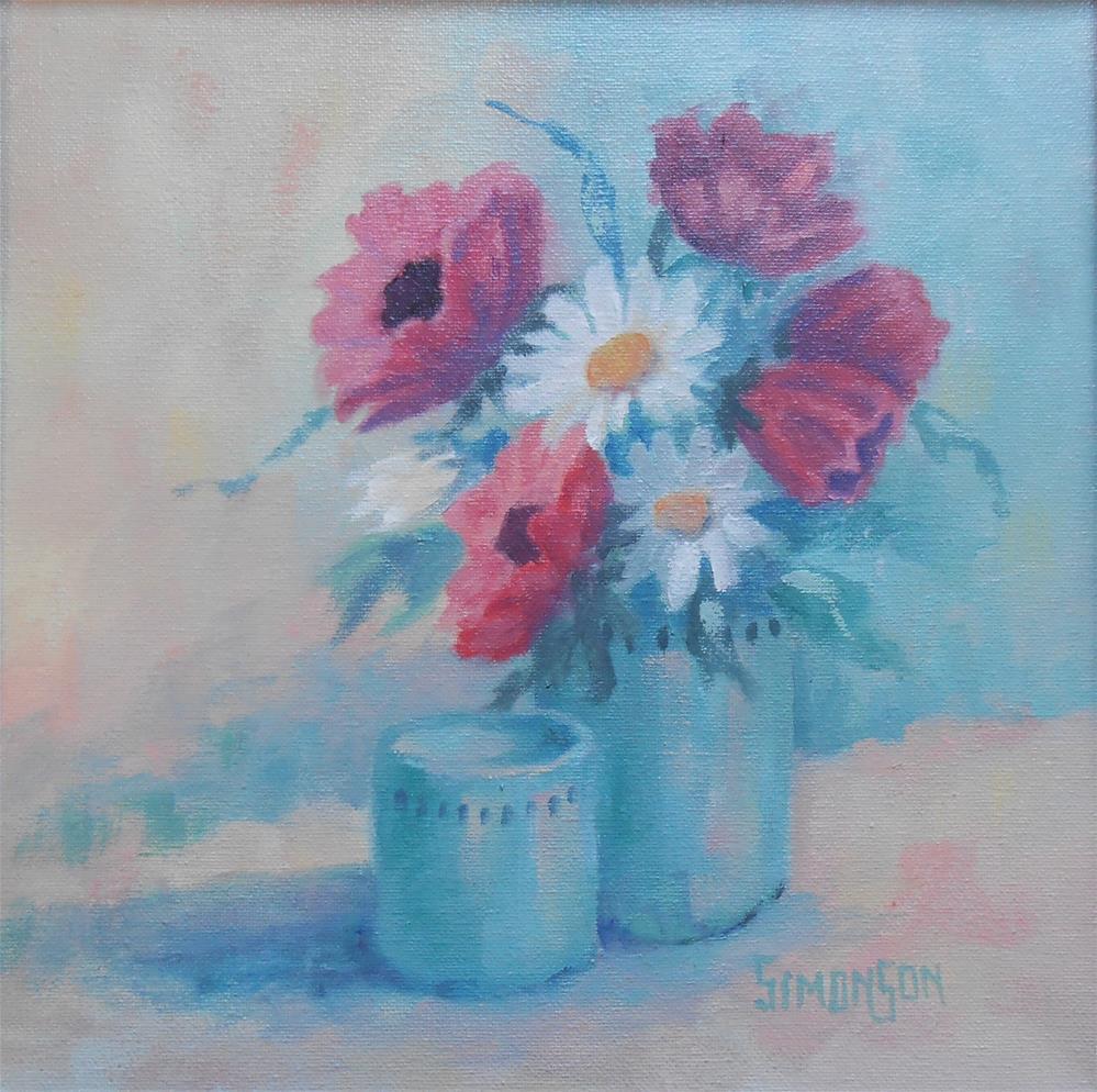 """Poppies and Daisies"" original fine art by Bev Simonson"