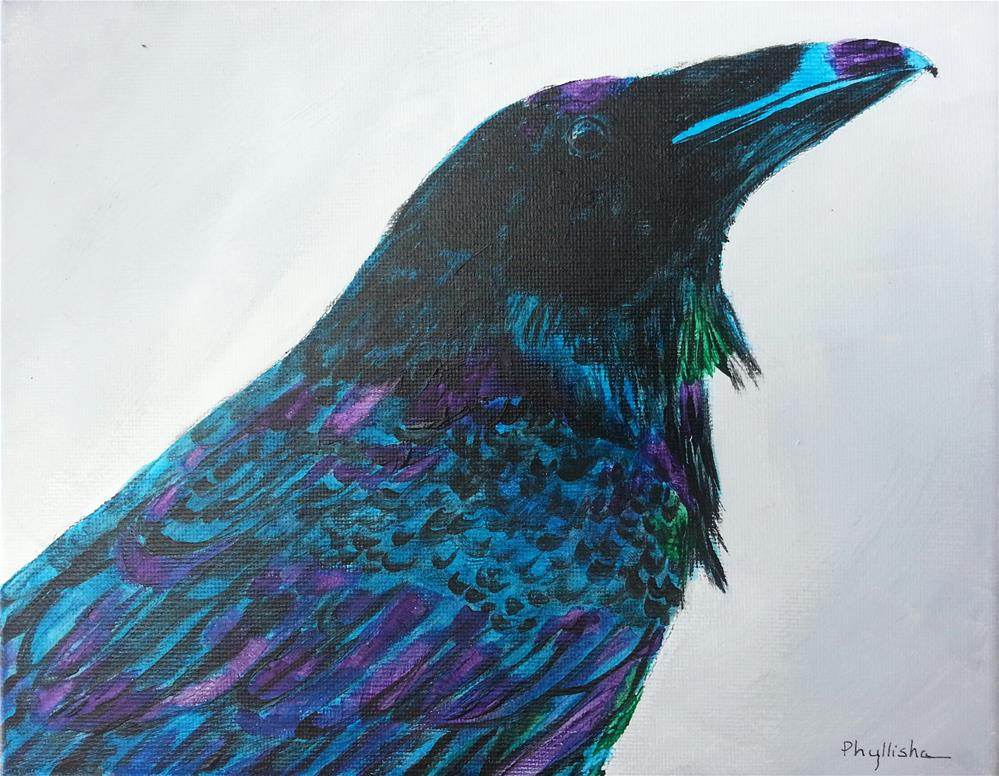 """Majestic Raven"" original fine art by Phyllisha Hamrick"