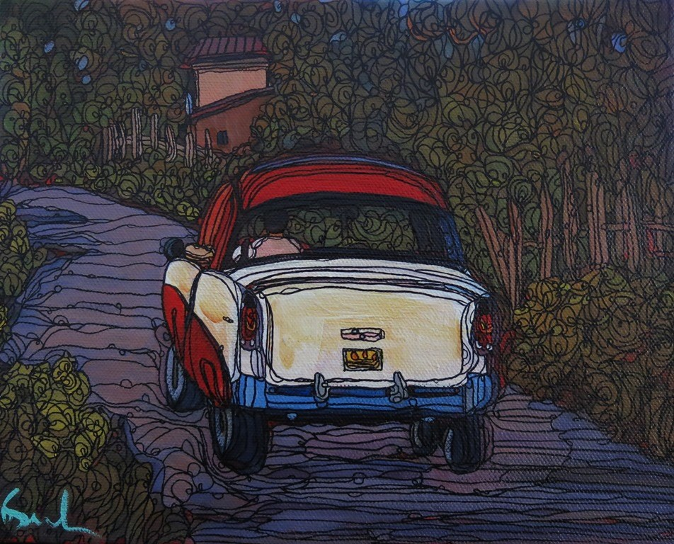 """122 JALOPY"" original fine art by Dee Sanchez"