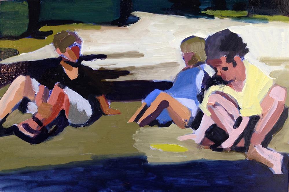 """Kids Of Summer"" original fine art by Pamela Hoffmeister"