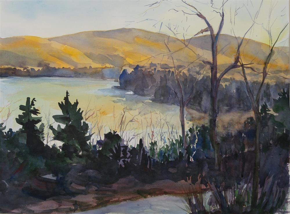 """lake ninevah vt"" original fine art by angela scully"