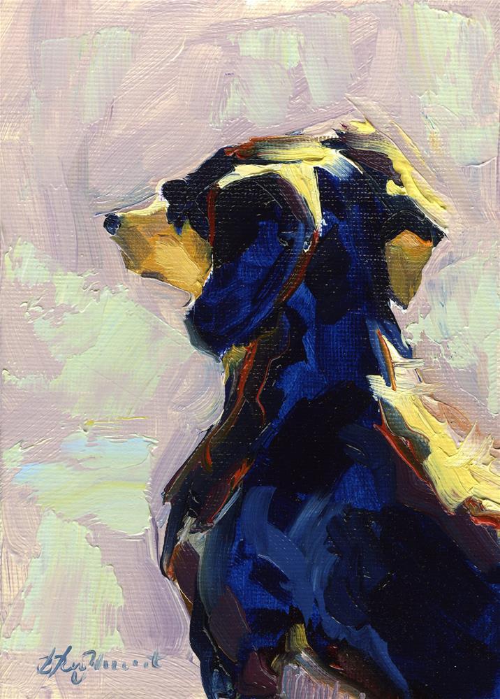 """Warming Up"" original fine art by B. Rex Stewart"