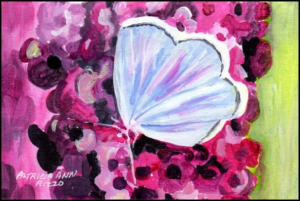 """Blue Butterfly"" original fine art by Patricia Ann Rizzo"