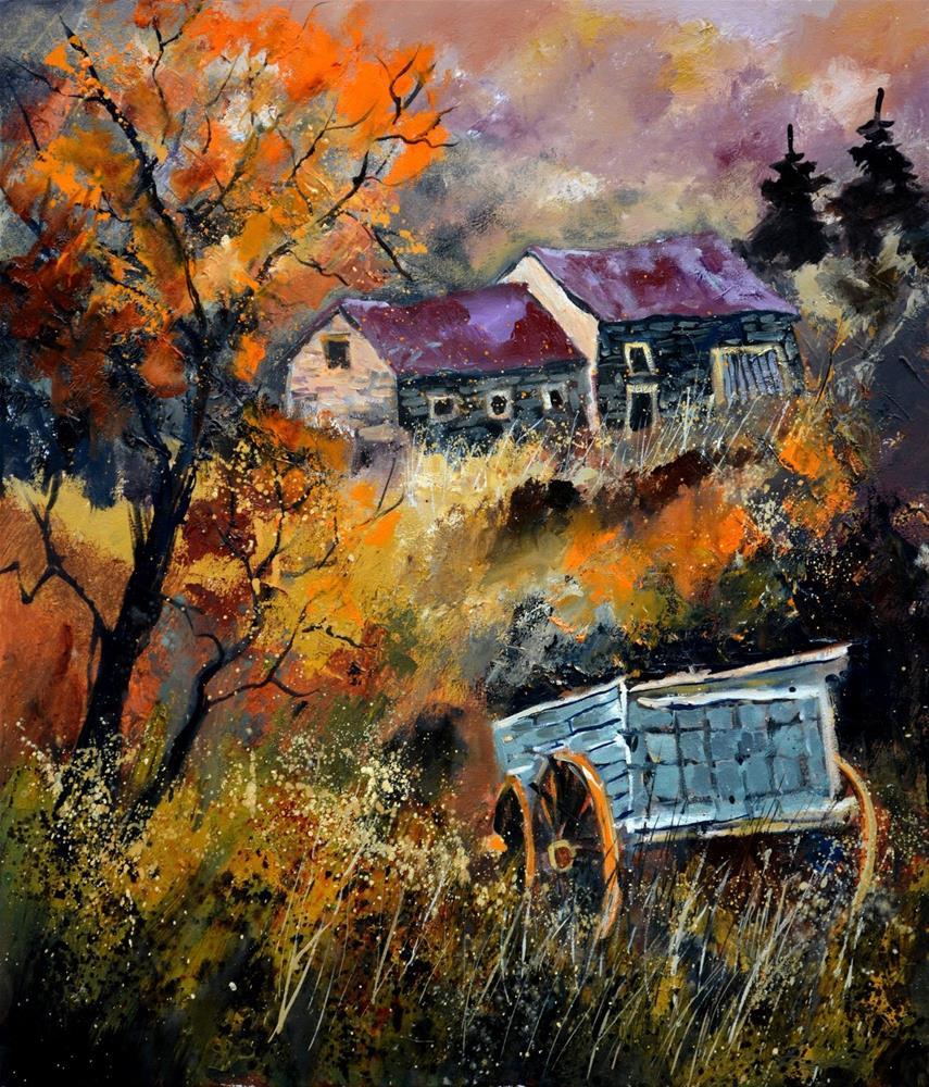 """old barrow"" original fine art by Pol Ledent"